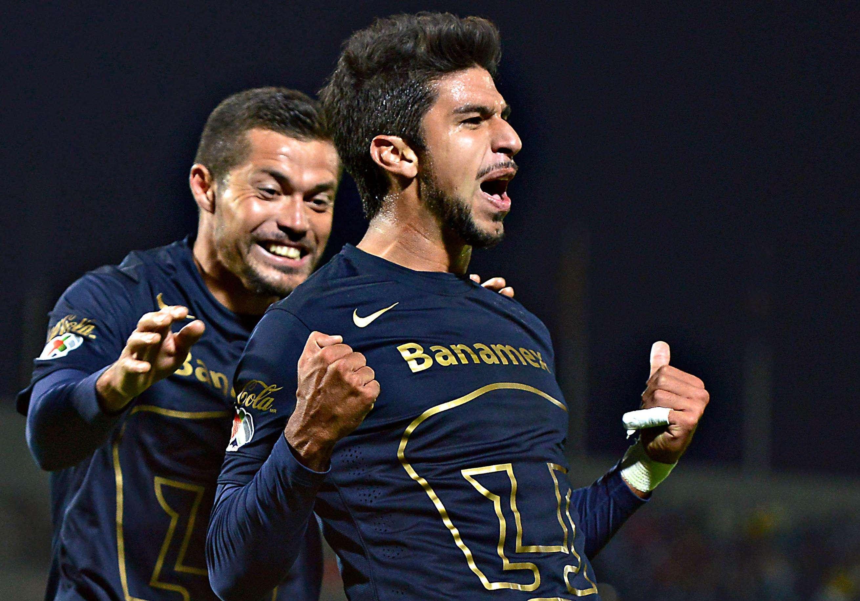 Lalo Herrera le dio el gol del triunfo a Pumas ante América en la ida de cuartos. Foto: Mexsport