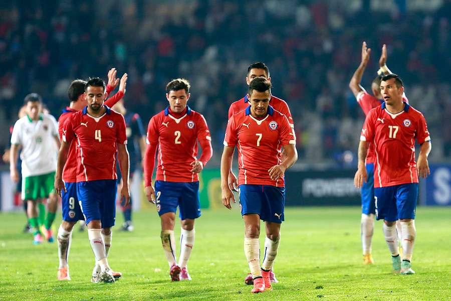 La Roja fue superada por el notable ascenso de Inglaterra. Foto: Agencia UNO