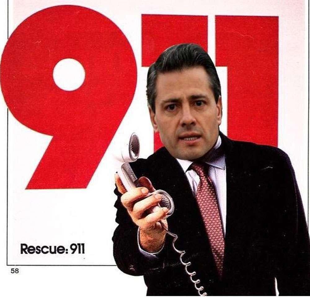 Memes del anuncio del 911 en México Foto: Twitter