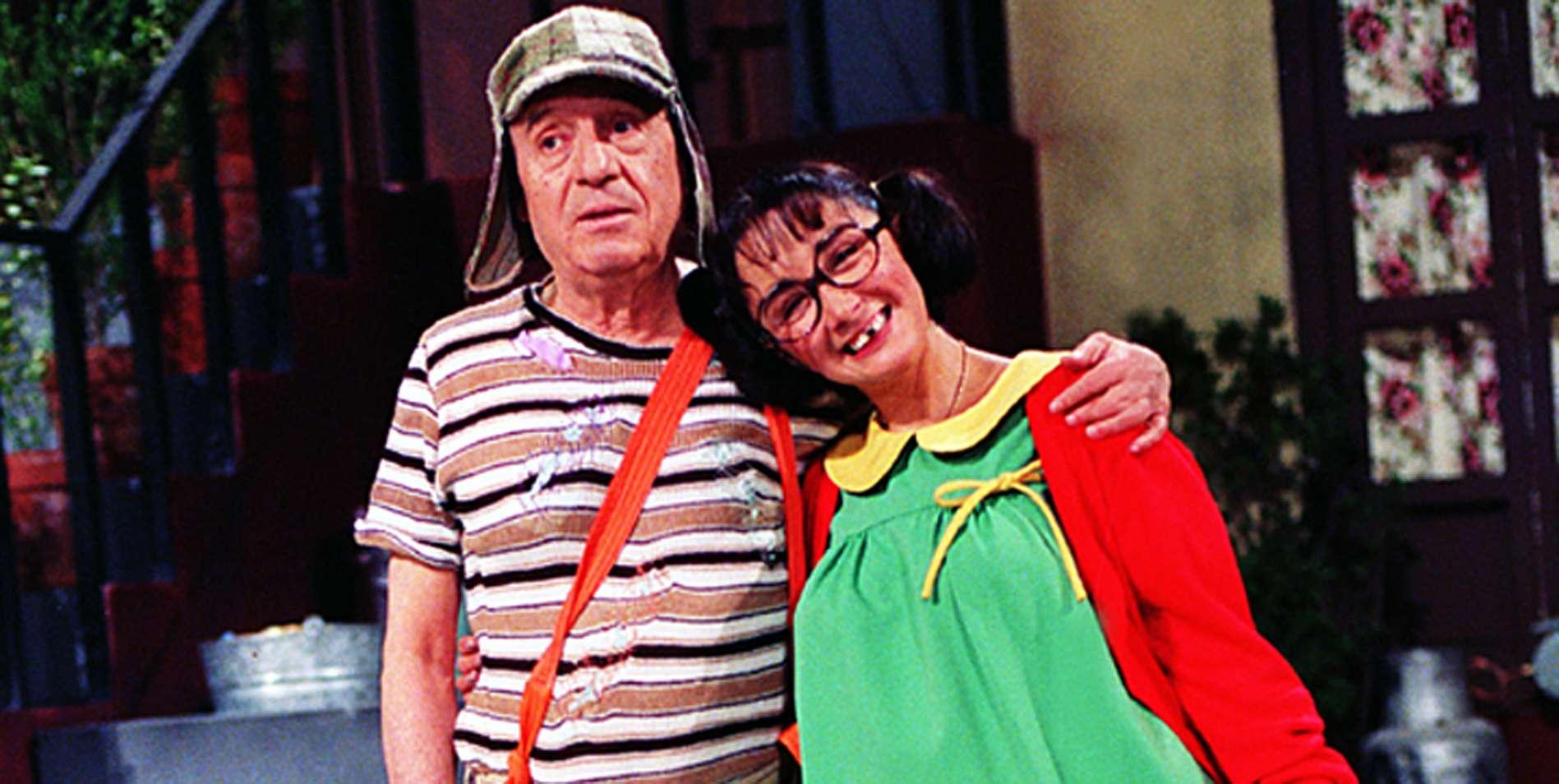 María Antonieta de las Nieves / Roberto Gómez Bolaños 'Chespirito'. Foto: Televisa