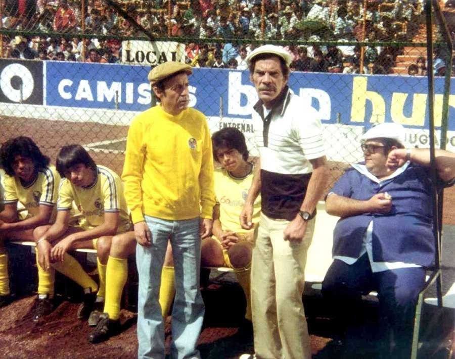 """""""Chespirito"""" y su amor por el Club América en las películas. Foto: Tomado de la película """"Chanfle"""""""