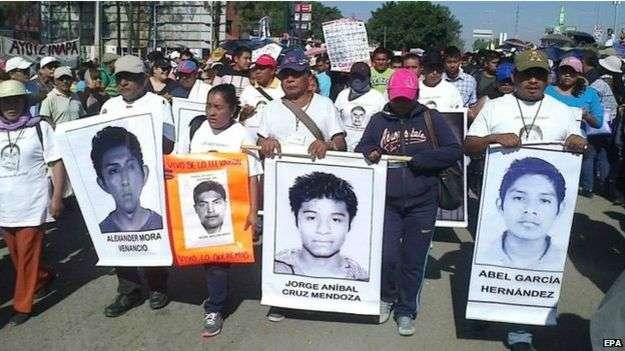 El pasado 26 de septiembre desaparecieron 43 estudiantes y se acusa a policías municipales. Foto: BBC Mundo/EPA