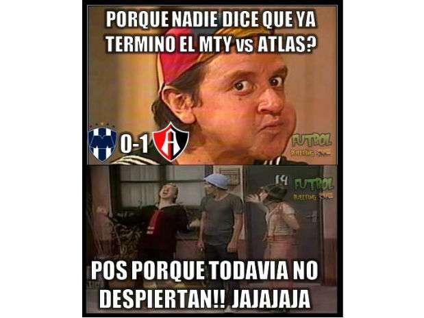 Los Rayados son víctimas de los memes al caer en el Estadio Tecnológico en el juego de ida de los cuartos de final del Apertura 2014. Foto: Facebook Chistes Tigres