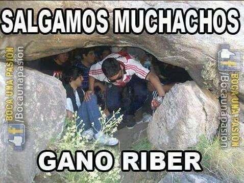 Los divertidos memes del Clásico River Plate vs Boca Juniors Foto: Twitter