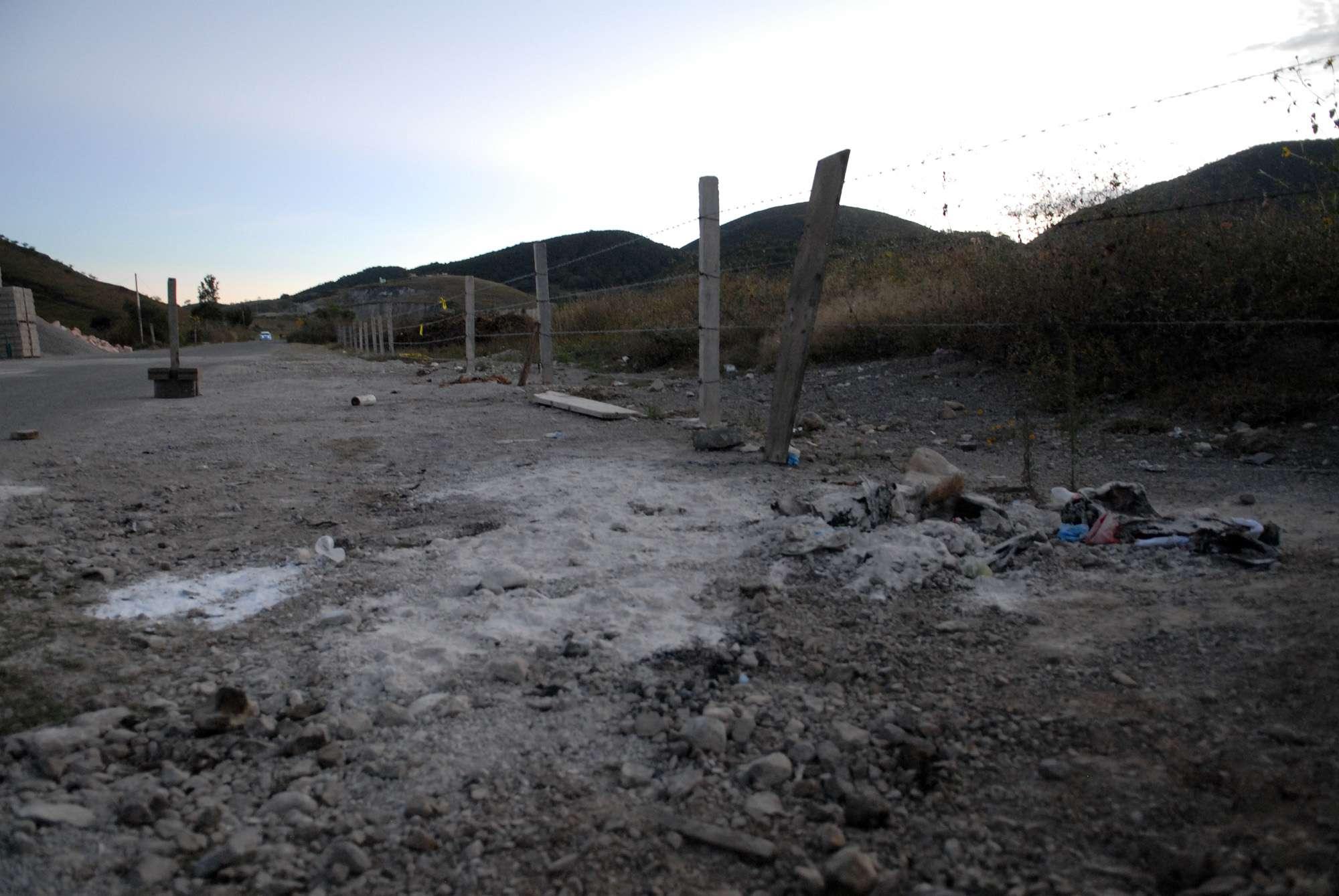Así es la zona donde hallaron a 11 decapitados en Guerrero Foto: PGR