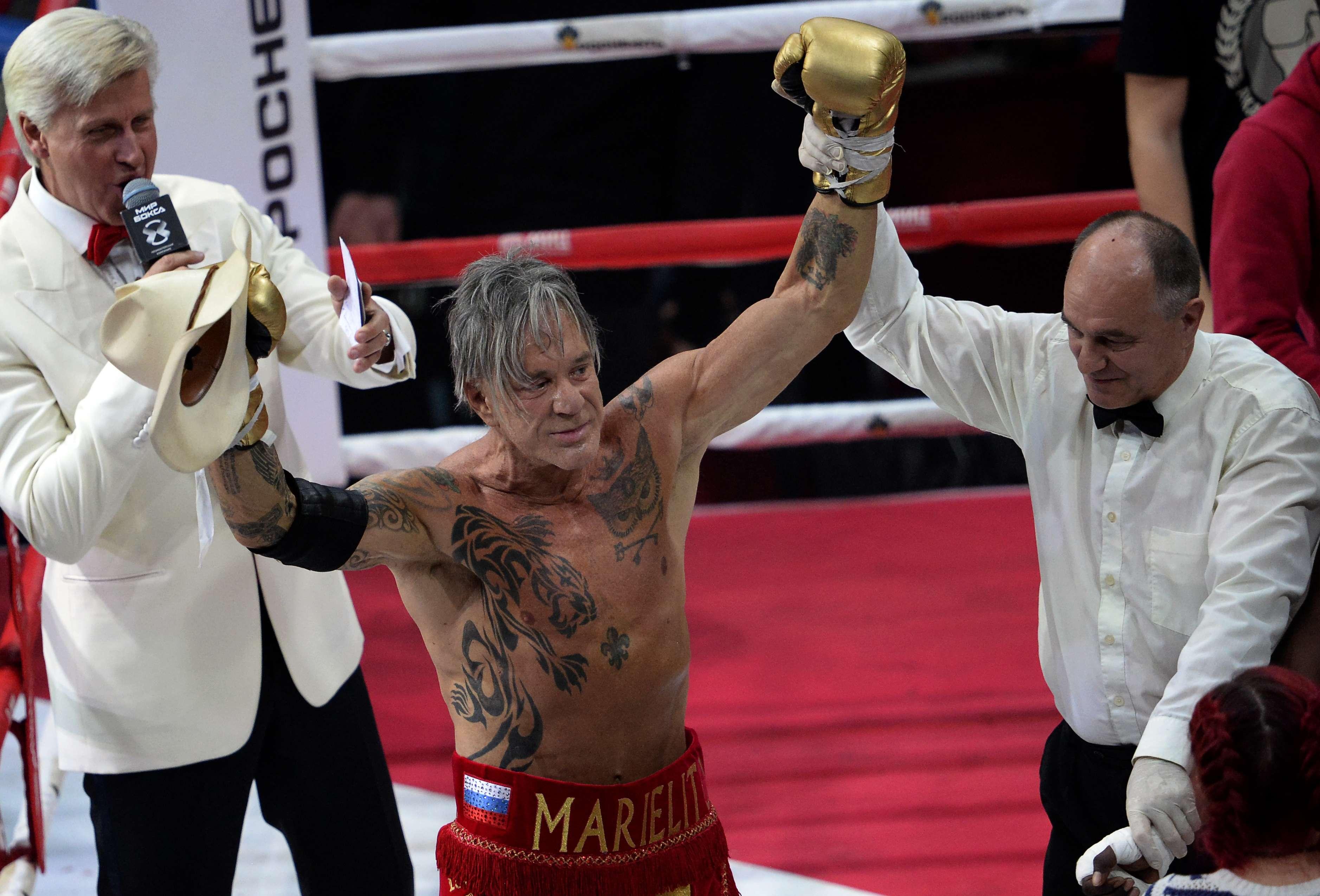 Rourke había colgado los guantes en 1995. Foto: AFP en español