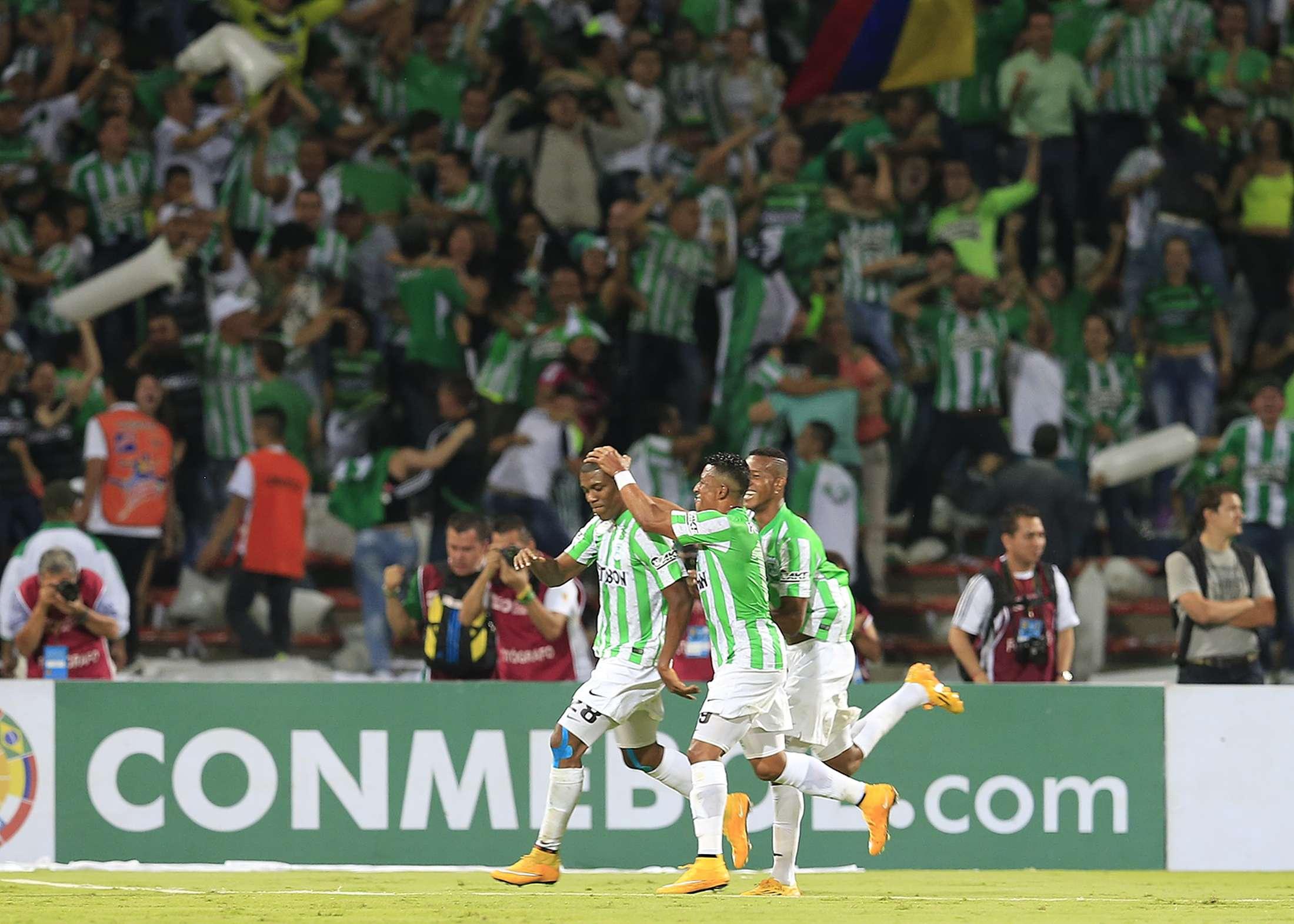 Atletico Nacional faz festa com gol no primeiro tempo; tudo aberto na decisão Foto: Jose Miguel Gomez/Reuters
