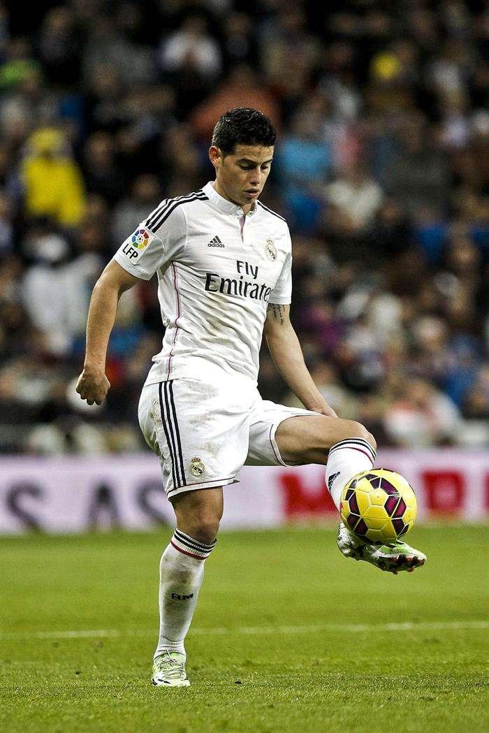 James Rodríguez, en partido de Real Madrid contra Celta Foto: EFE en español