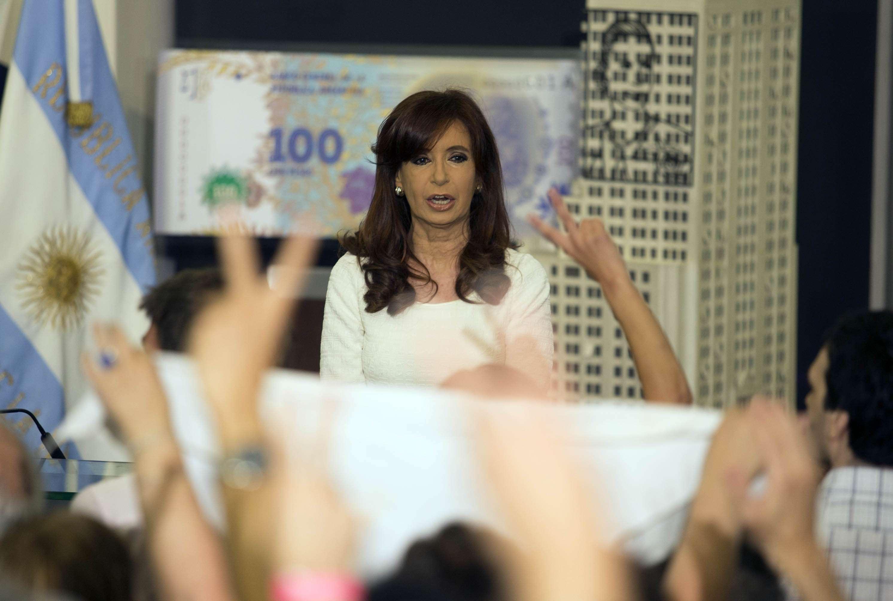 Cristina fustiga a los Fondos Buitre. Foto: NA