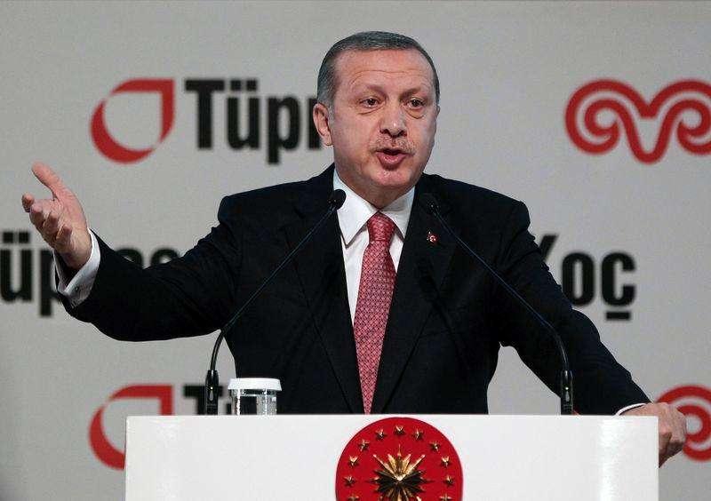 Presidente turco, Tayyip Erdogan, durante uma cerimônia de inauguração em uma refinaria nos arredores de Istambul. 15/12/2014. Foto: Osman Orsal/Reuters