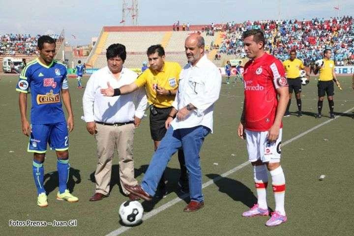 Federico Cúneo y Edwin Oviedo en la previa al play off entre Juan Aurich y Sporting Cristal en Chiclayo. Foto: Facebook Juan Aurich