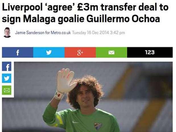 Liverpool es el candidato más fuerte para el portero mexicano Memo Ochoa. Foto: Metro.