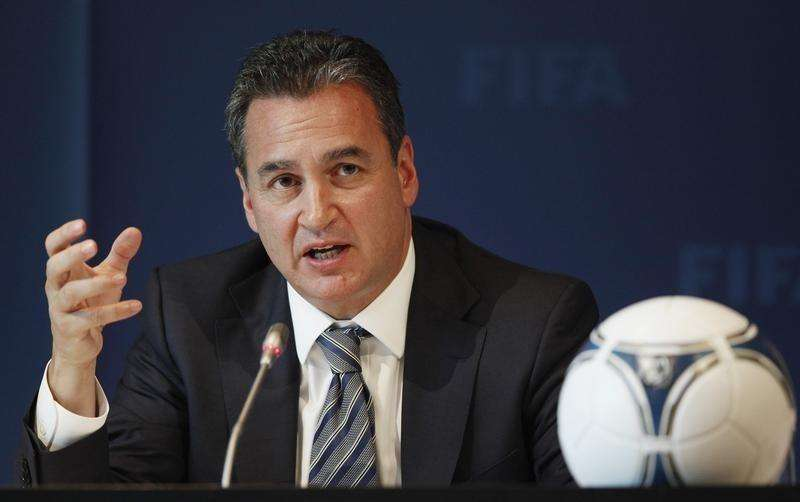 Michael J. Garcia, Chairman of the investigatory chamber of the FIFA Ethics Committee attends a news conference at the at the Home of FIFA in Zurich July 27, 2012. Foto: Michael Buholzer/Reuters