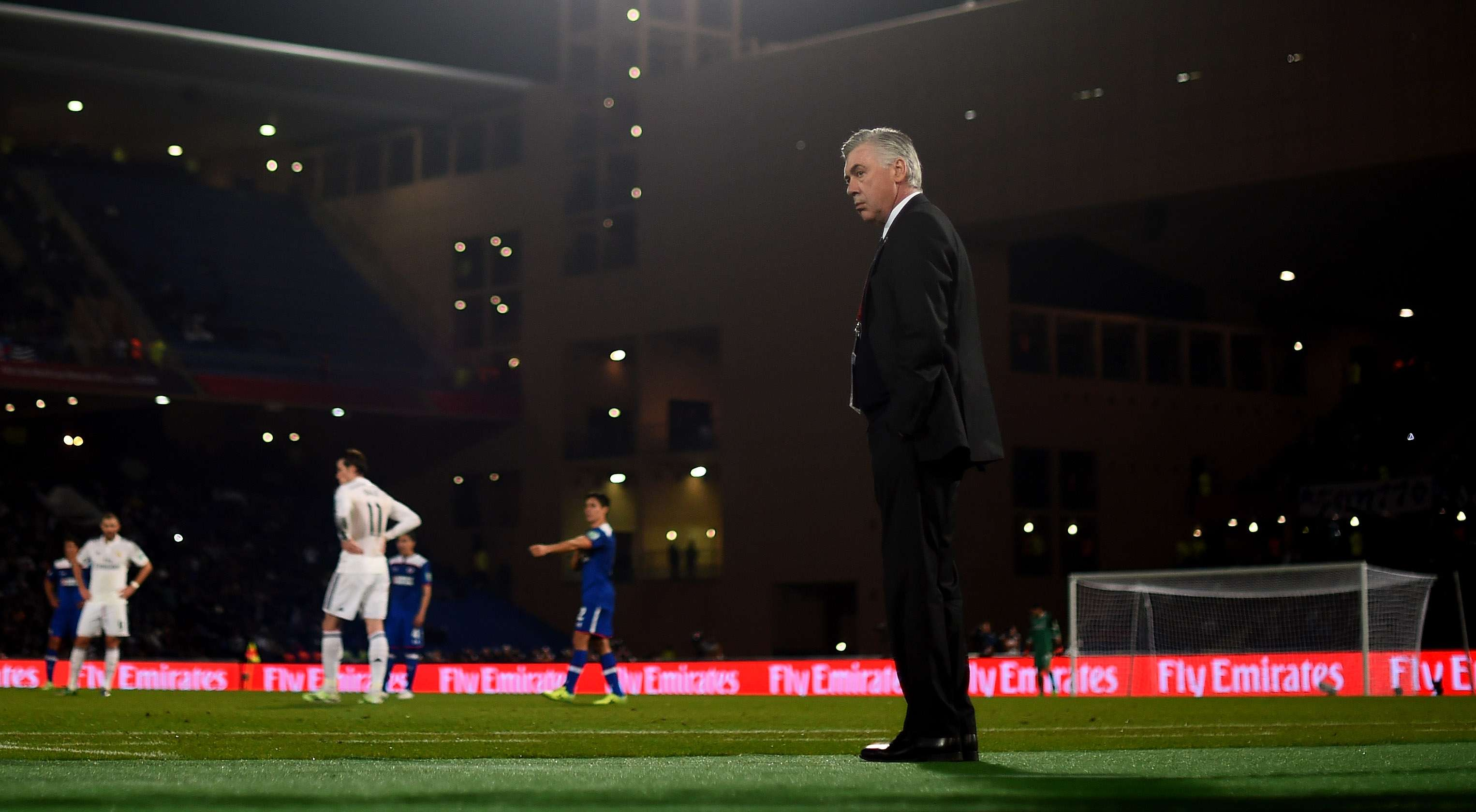 Ancelotti ve campeón al Real Madrid del Mundial de Clubes. Foto: Getty Images
