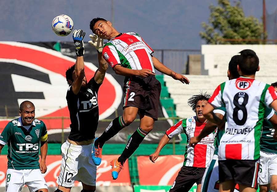Palestino venció con claridad por 3-0 a Santiago Wanderers en una tarde de golazos y dio un gran paso para clasificar históricamente a Copa Libertadores tras 36 años de ausencia. Foto: Agencia UNO