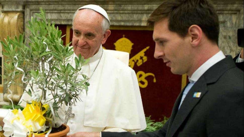 El Papa y Messi Foto: AP