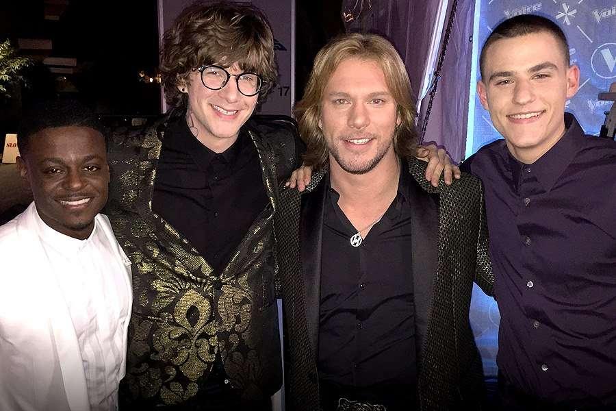 Damien Lawson, Matt McAndrew, Craig Wayne Boyd y Chris Jamison fueron los finalistas de 'The Voice'. Foto: NBC