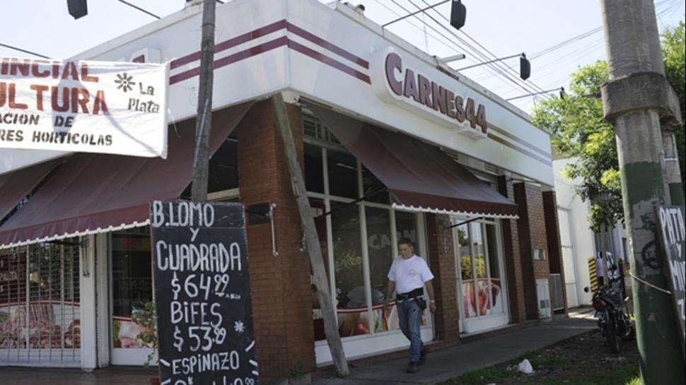 La carnicería asaltada. Foto: Gentileza DiarioHoy.net