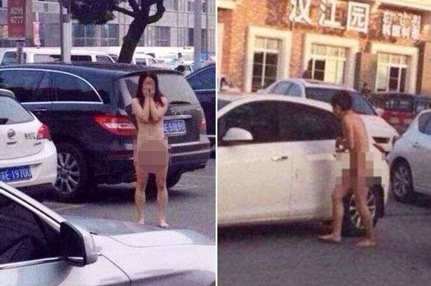 Irmã gêmea e marido traem chinesa que se vinga, deixando-os pelados em estacionamento Foto: The Mirror/Reprodução