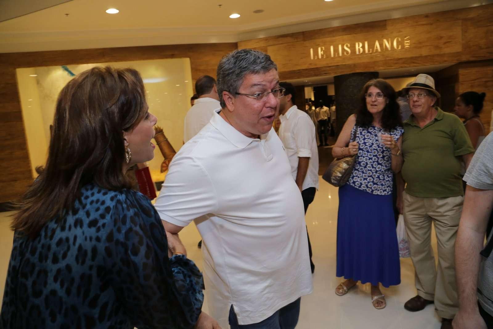 Narcisa e Boninho se reencontram em evento Foto: Marcello Sá Barretto/AgNews