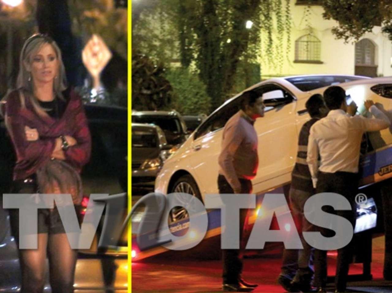 Inés Sainz llamó a su esposo para que fuera por ella luego del mal momento que pasó por los daños a su automóvil de lujo. Foto: TV Notas