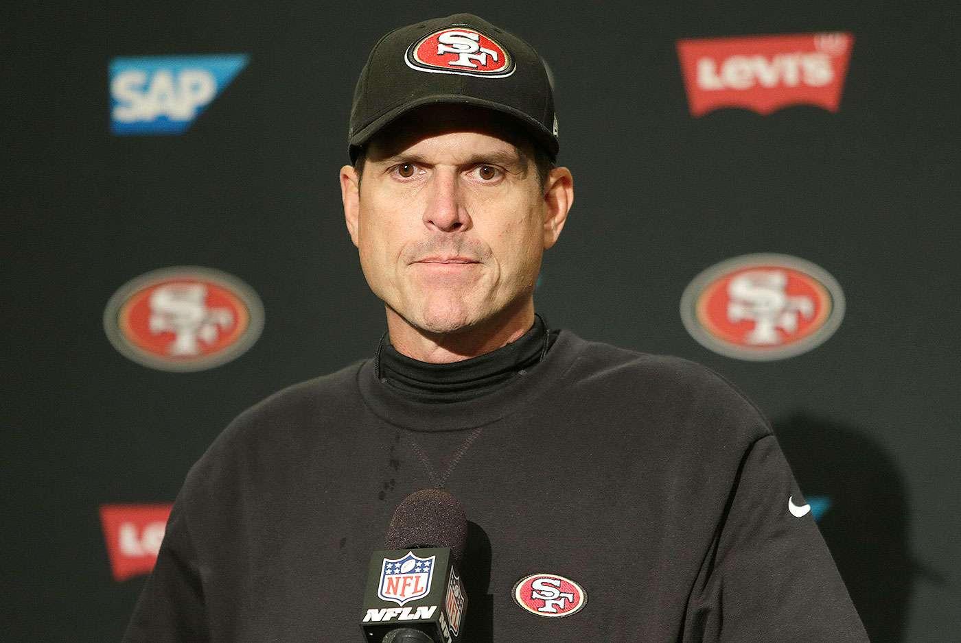 Jim Harbaugh, entrenador en jefe de los San Francisco 49ers. Foto: John Froschauer/AP