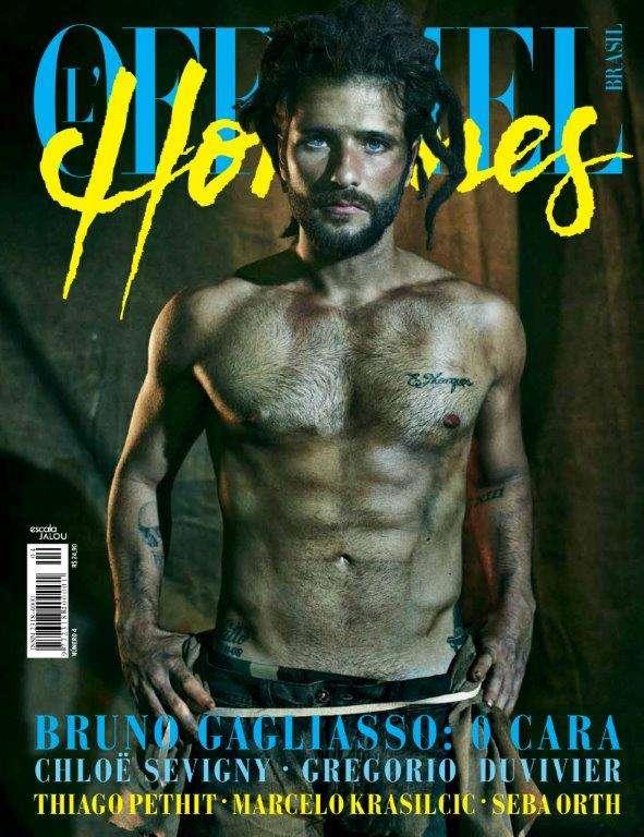 Bruno Gagliasso em capa da revista c Foto: Gustavo Zylbersztajn/L'Officiel Hommes / Divulgação