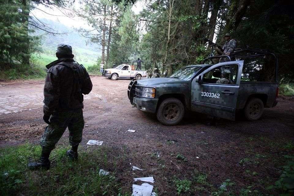 """Violencia en el estado está vinculada a la lucha de los cárteles de """"Los Rojos"""" y """"Guerreros Unidos"""". Foto: Reforma"""