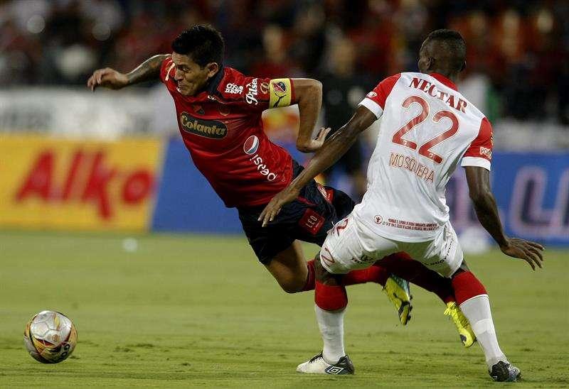 Independiente Medellín dominó a su antojo la primera parte. Se puso en ventaja con gol de Germán Cano que llegó a 16 goles. Foto: EFE en español