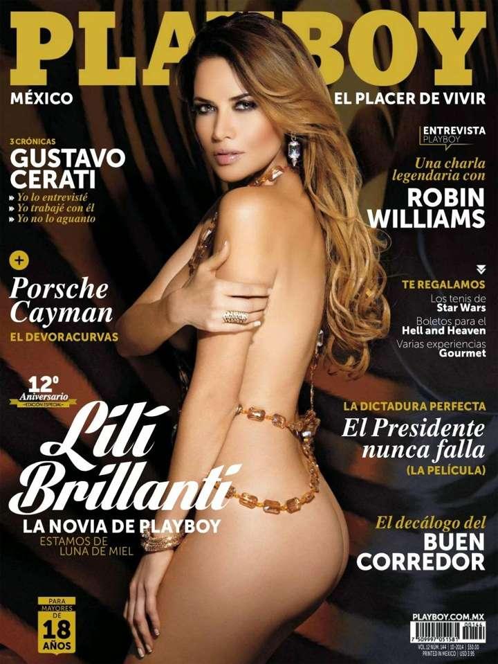 Portadas de Playboy México 2014: Lilí Brillanti Foto: Playboy México