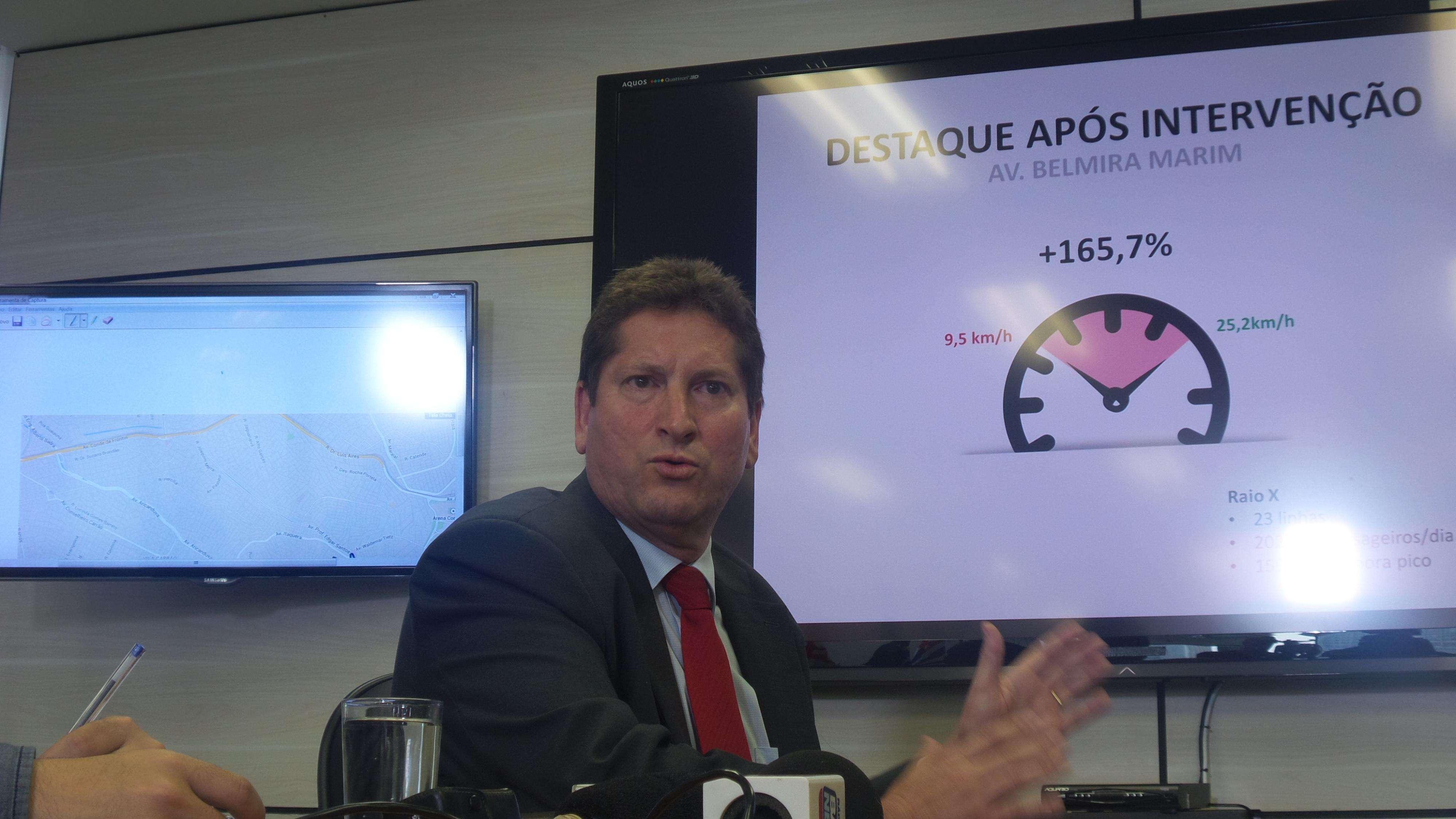 Segundo o secretário de Transportes de SP, Jilmar Tatto, serão 1.200 GCMs para fiscalizar o trânsito a partir de 2015 Foto: Janaina Garcia/Terra