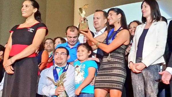 María José Moya, la Mejor de los Mejores 2014. Foto: Ministerio del Deporte