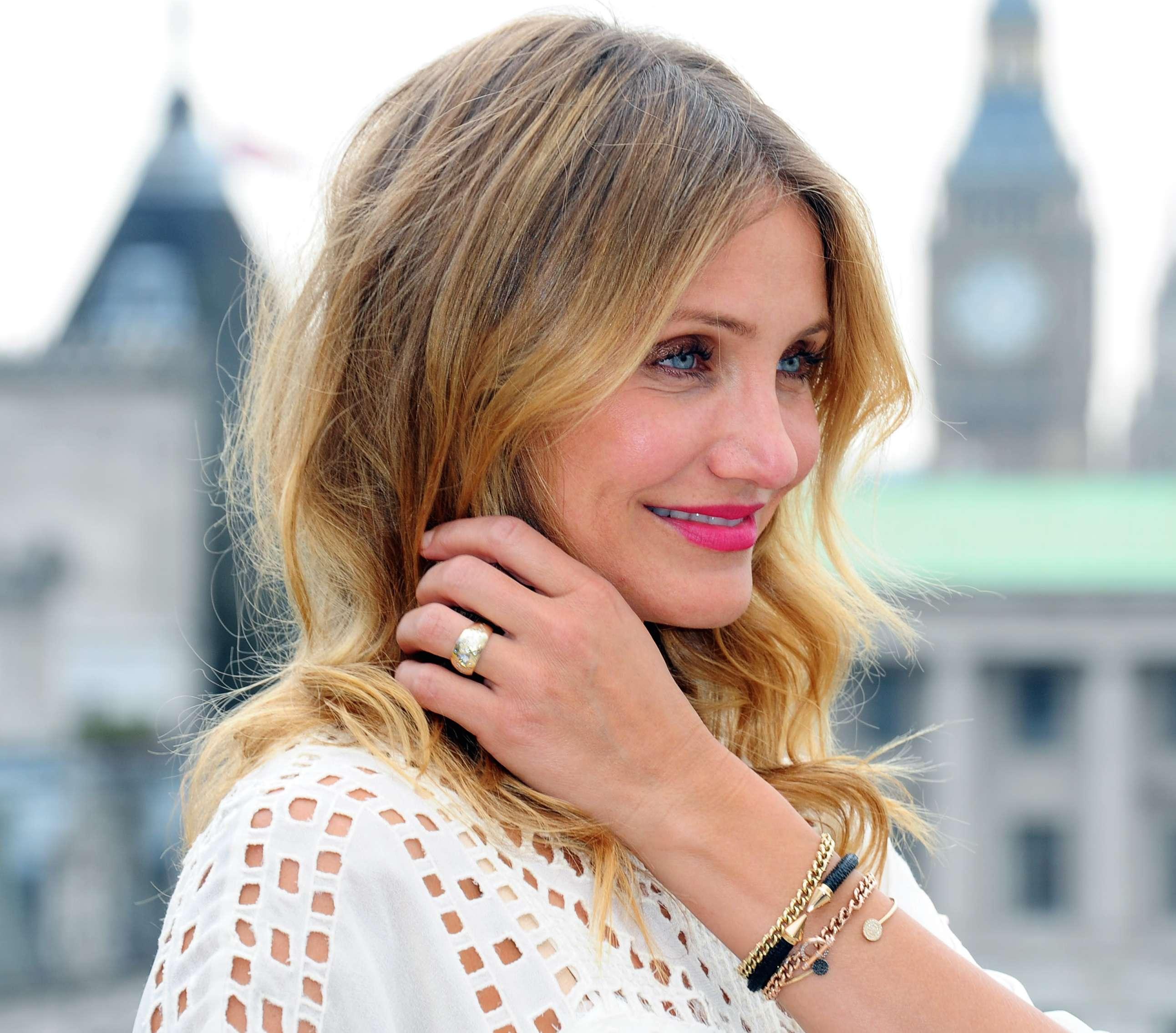 Durante los últimos meses, Cameron luce un anillo que se dice es de compromiso. Foto: Getty Images