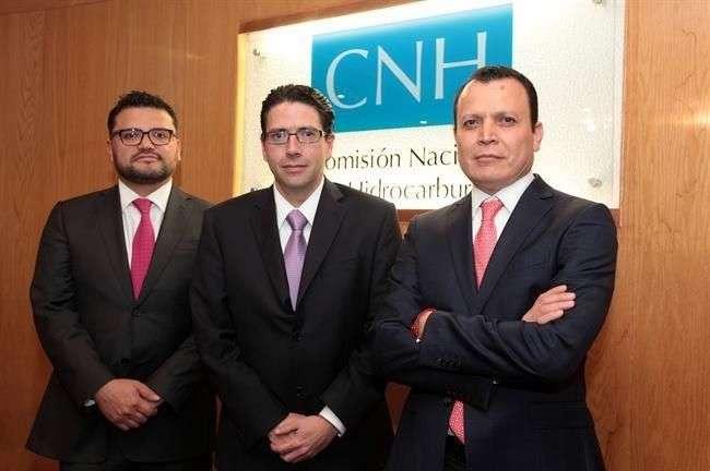 Sergio Pimentel, Juan Carlos Zepeda y Héctor Acosta de la CHN. Foto: Reforma