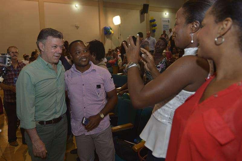 Presidente Juan Manuel Santos en su visita a Quibdó Foto: EFE en español
