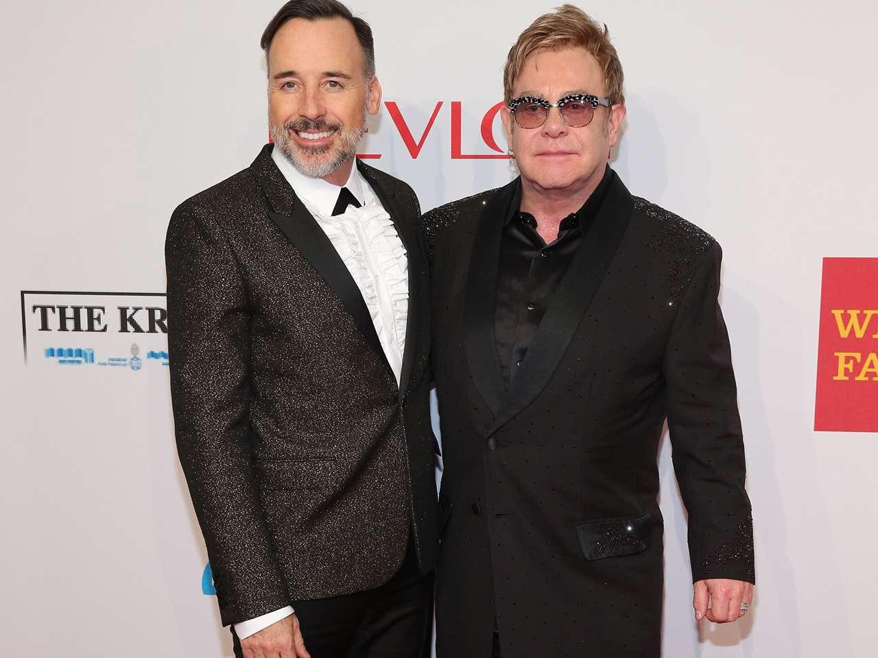 Elton John y David Furnish ya tienen dos hijos. Foto: Getty Images