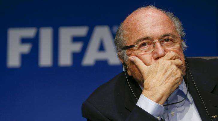 Presidente da Fifa, Joseph Blatter, durante coletiva de imprensa em Zurique. 26/09/2014. Foto: Arnd Wiegmann/Reuters