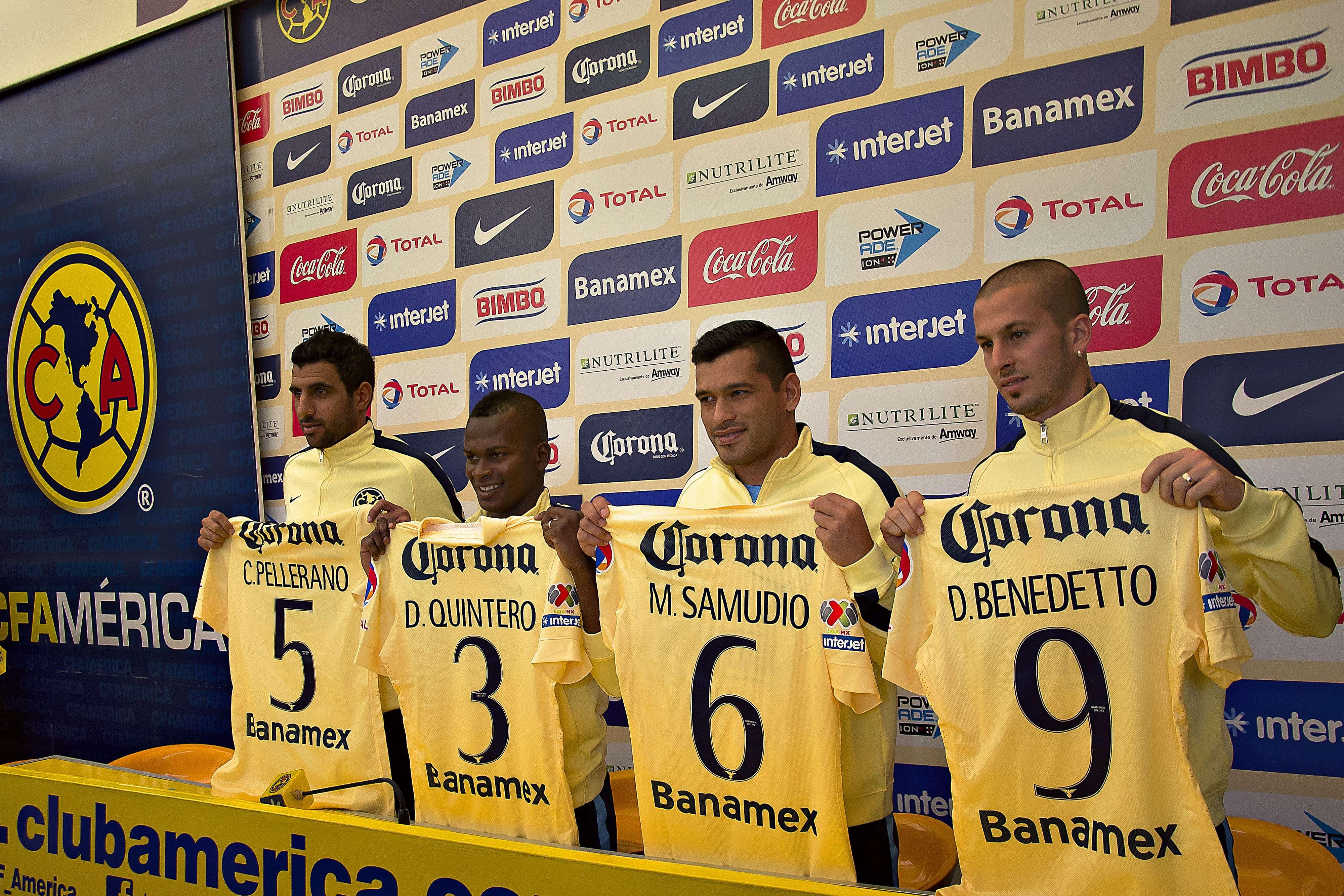 Los fichajes del América, durante su primer día en el 'Nido'. Foto: Mexsport