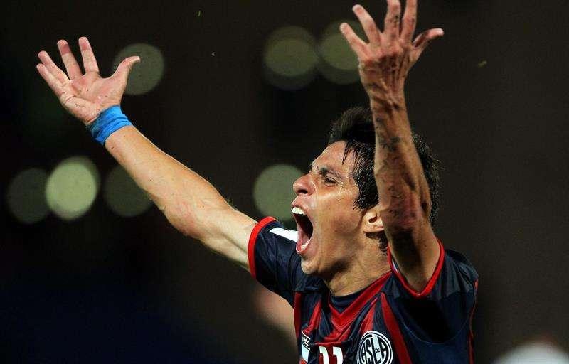 Pablo Barrientos de San Lorenzo celebra su gol ante Auckland City FC Foto: EFE en español