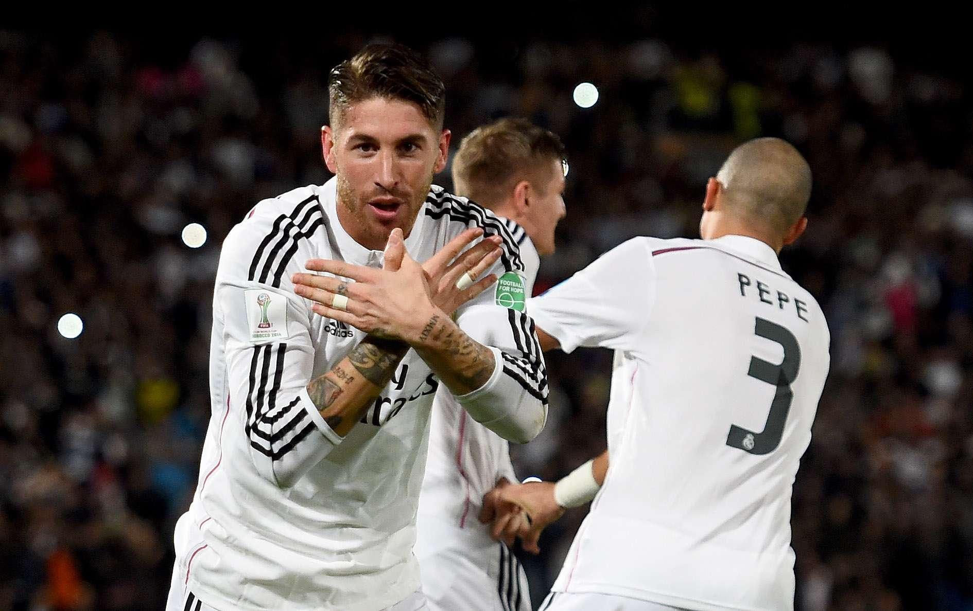Ramos ya comenzó a calentar la final ante San Lorenzo. Foto: Getty Images