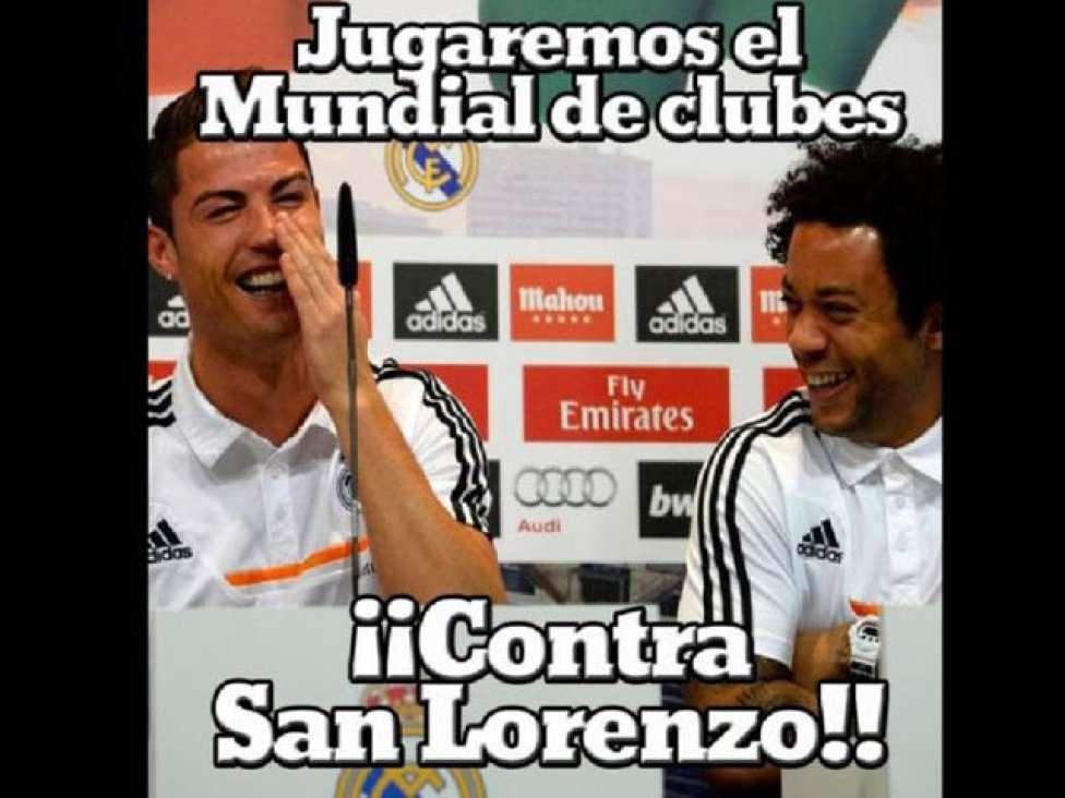 Divertidos memes de la final Real Madrid - San Lorenzo inundan las redes sociales antes del partido que enfrentará al campeón de la Liga de Campeones con el campeón de la Libertadores Foto: Internet