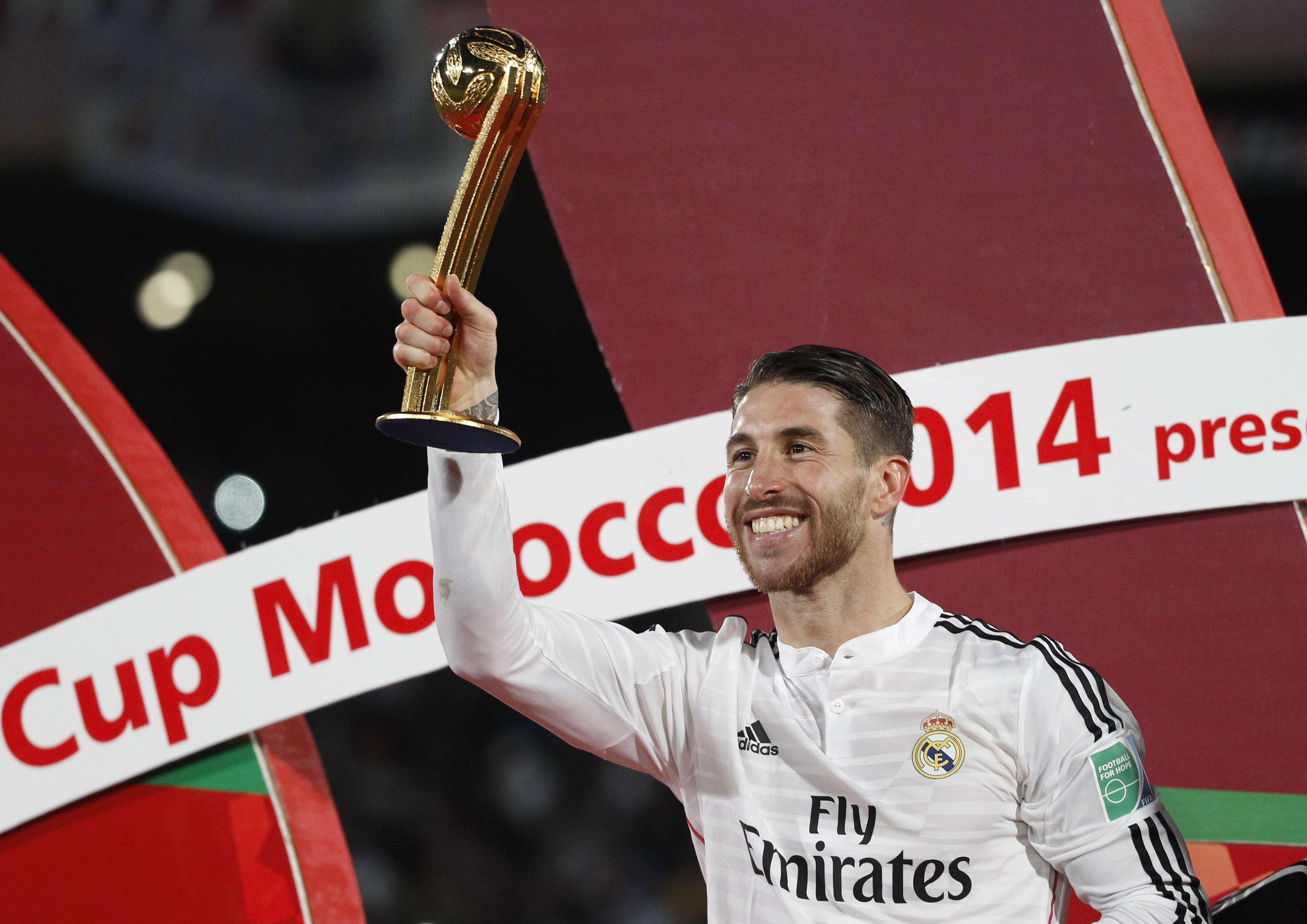 Sérgio Ramos levou a Bola de Ouro do Mundial de Clubes Foto: Christoph Ena/AP