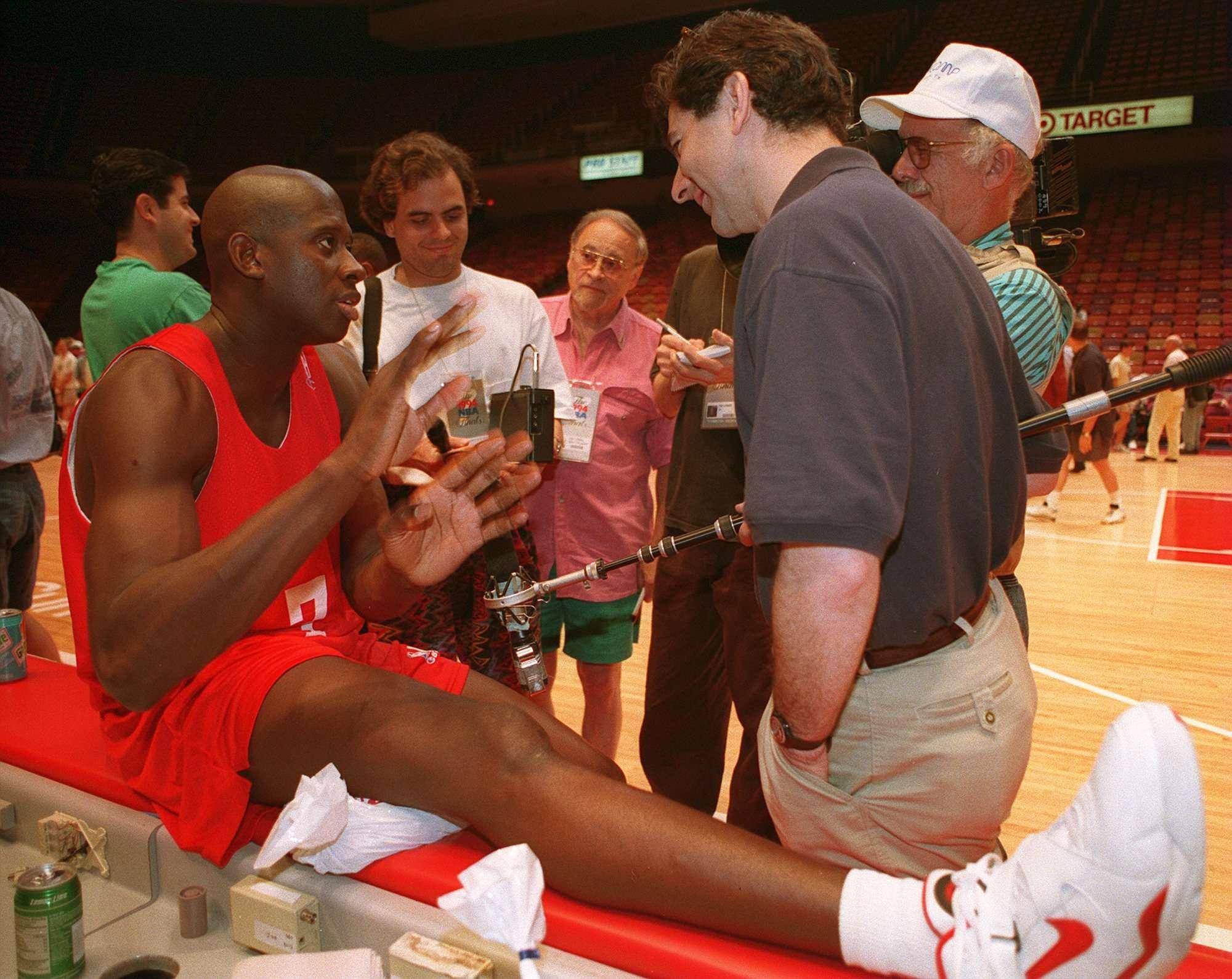 Herrera fue campeón con Hakeem Olajuwon y compañía en los años 90, Foto: Getty Images