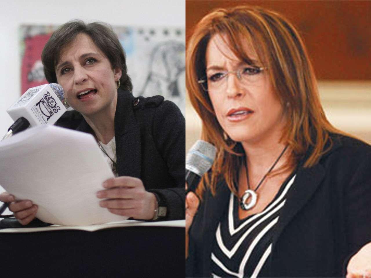Fernanda Familiar critica la forma de actuar de la periodista Carmen Aristegui. Foto: Agencias