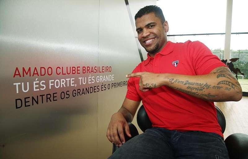 Após período preso na Alemanha, Breno tenta um reinício no futebol com a camisa do São Paulo Foto: Rubens Chiri/saopaulofc.net