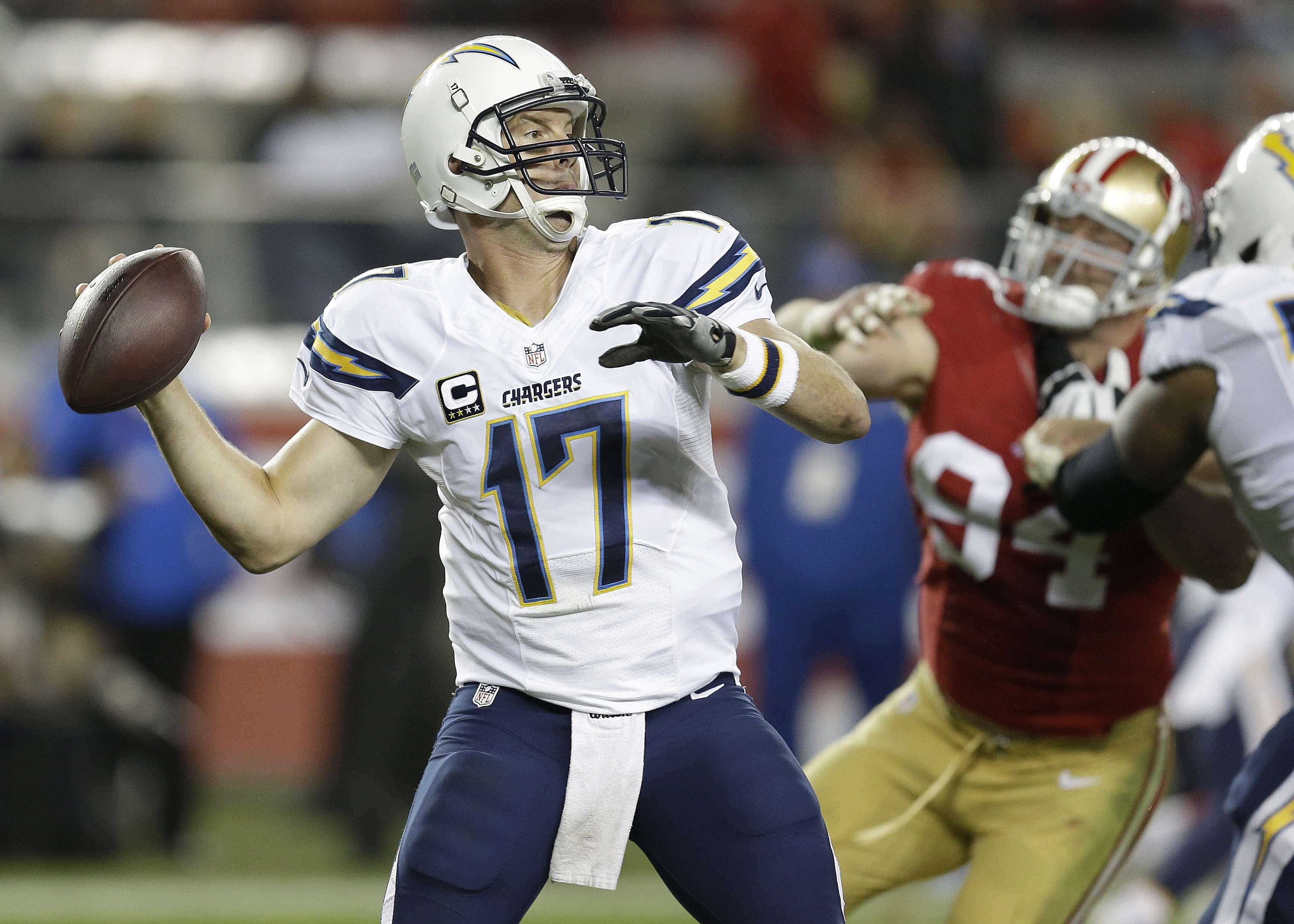 Philip Rivers necesitaría cirugía al final de la temporada Foto: AP