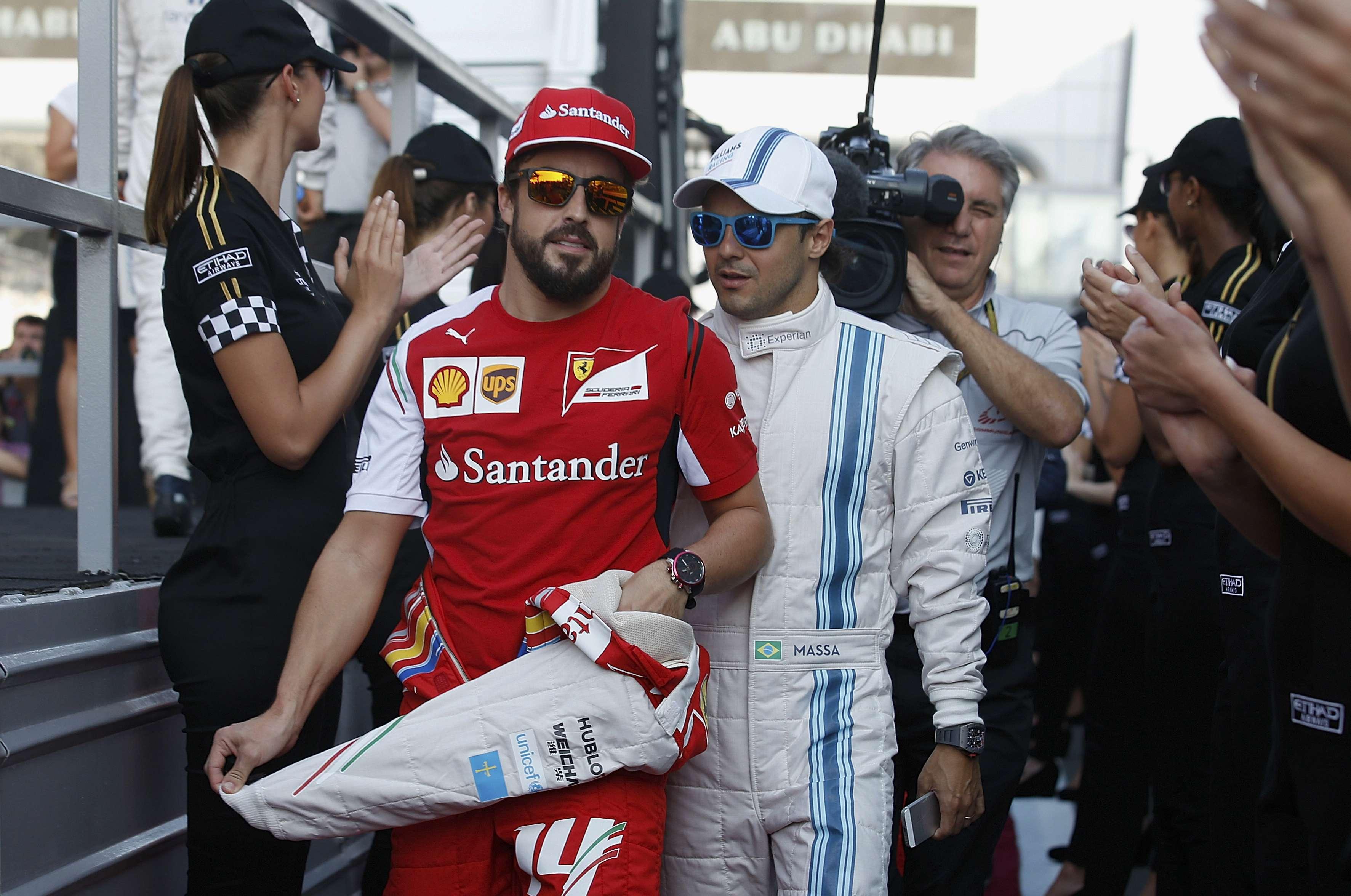Massa elogío a Alonso. Foto: AP