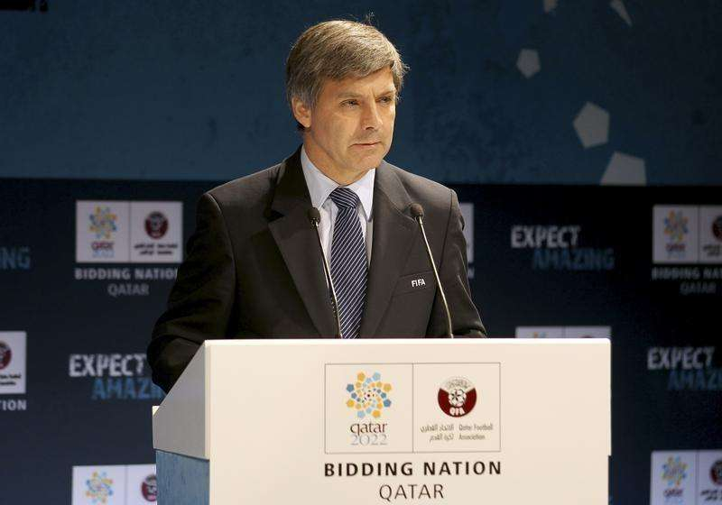 Chief FIFA inspector Harold Mayne-Nicholls speaks during a news conference for the FIFA Inspection Visit for the Qatar 2022 World Cup Bid in Doha September 14, 2010. Foto: Fadi Al-Assaad/Reuters
