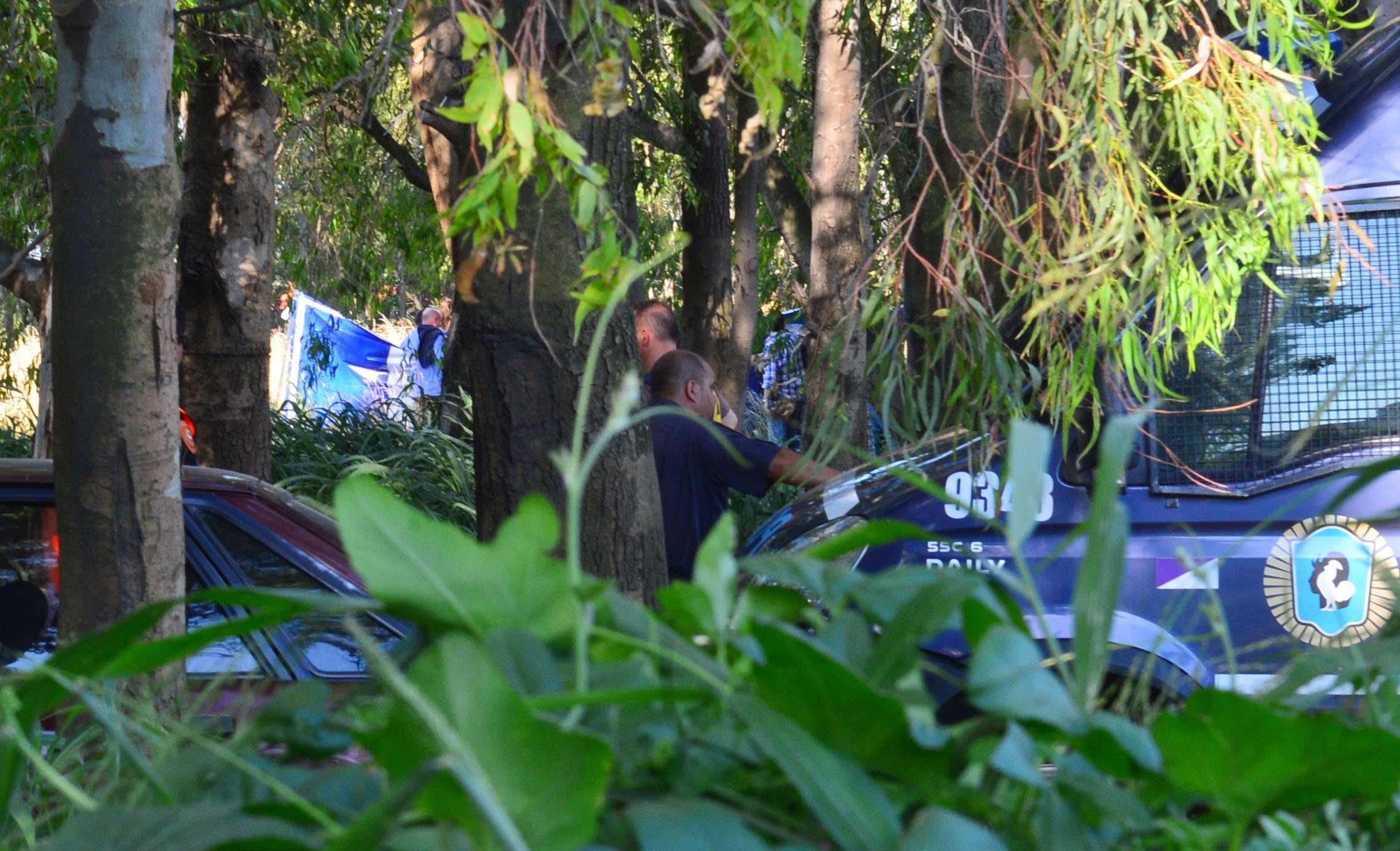 El lugar en la Costanera Sur donde fue hallado el cuerpo del asesor financiero. Foto: Noticias Argentinas