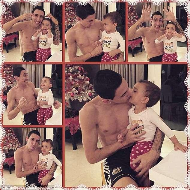Foto montaje del jugador con su hijo, tras su regreso a las canchas. Foto: Jorgelina Cardoso/Instagram